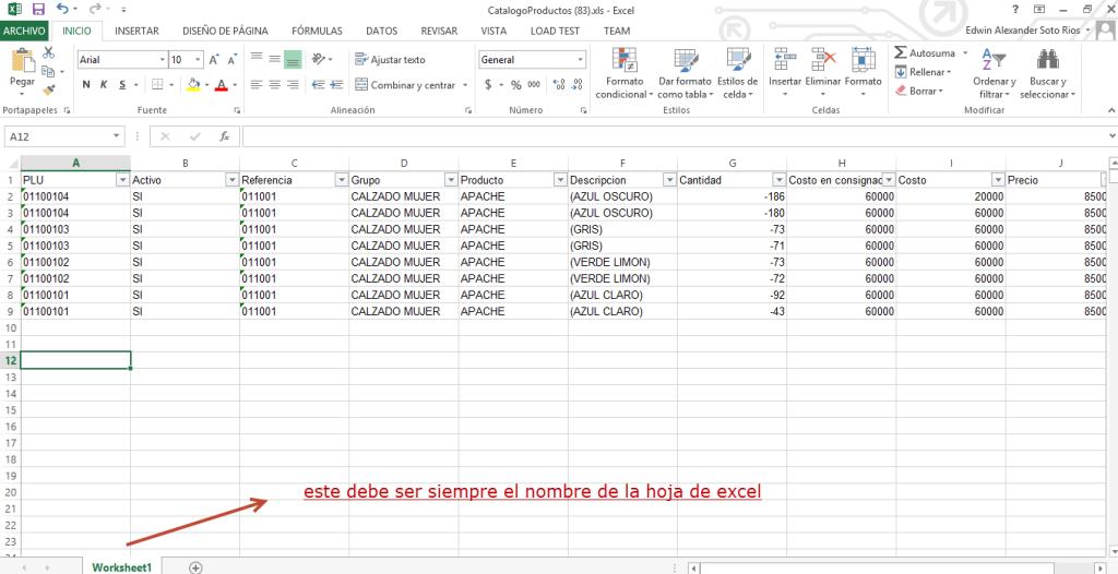 Excel formato