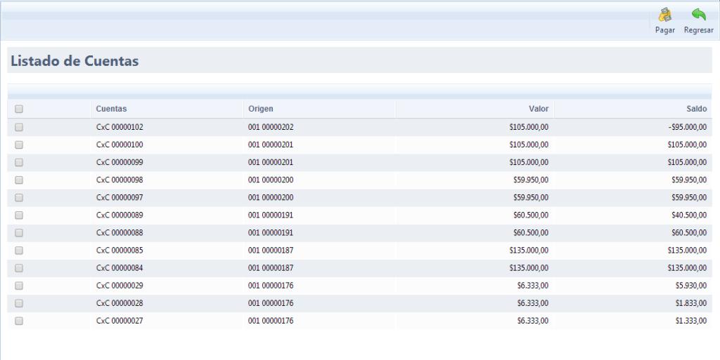 Listado de Cuentas por Tercero