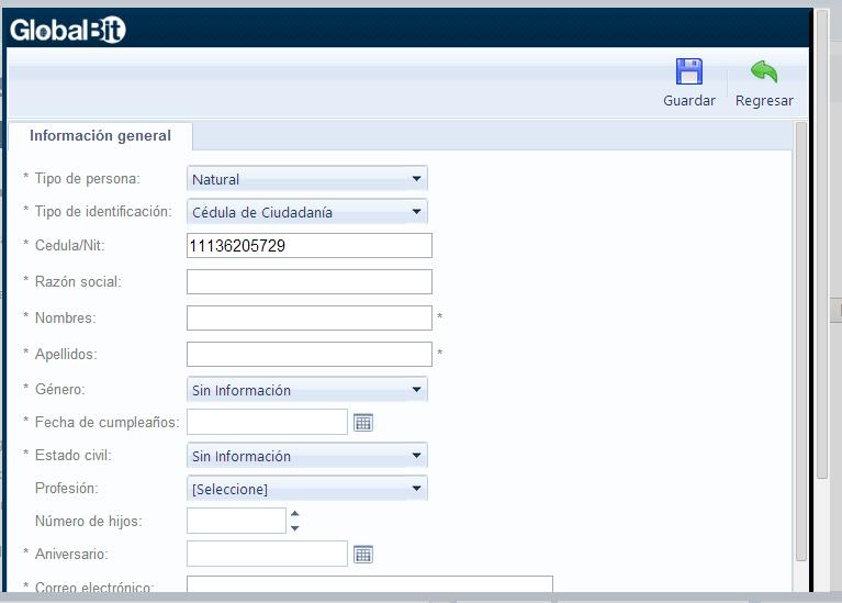 formulario proveeedor