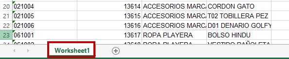nombre del archivo exel