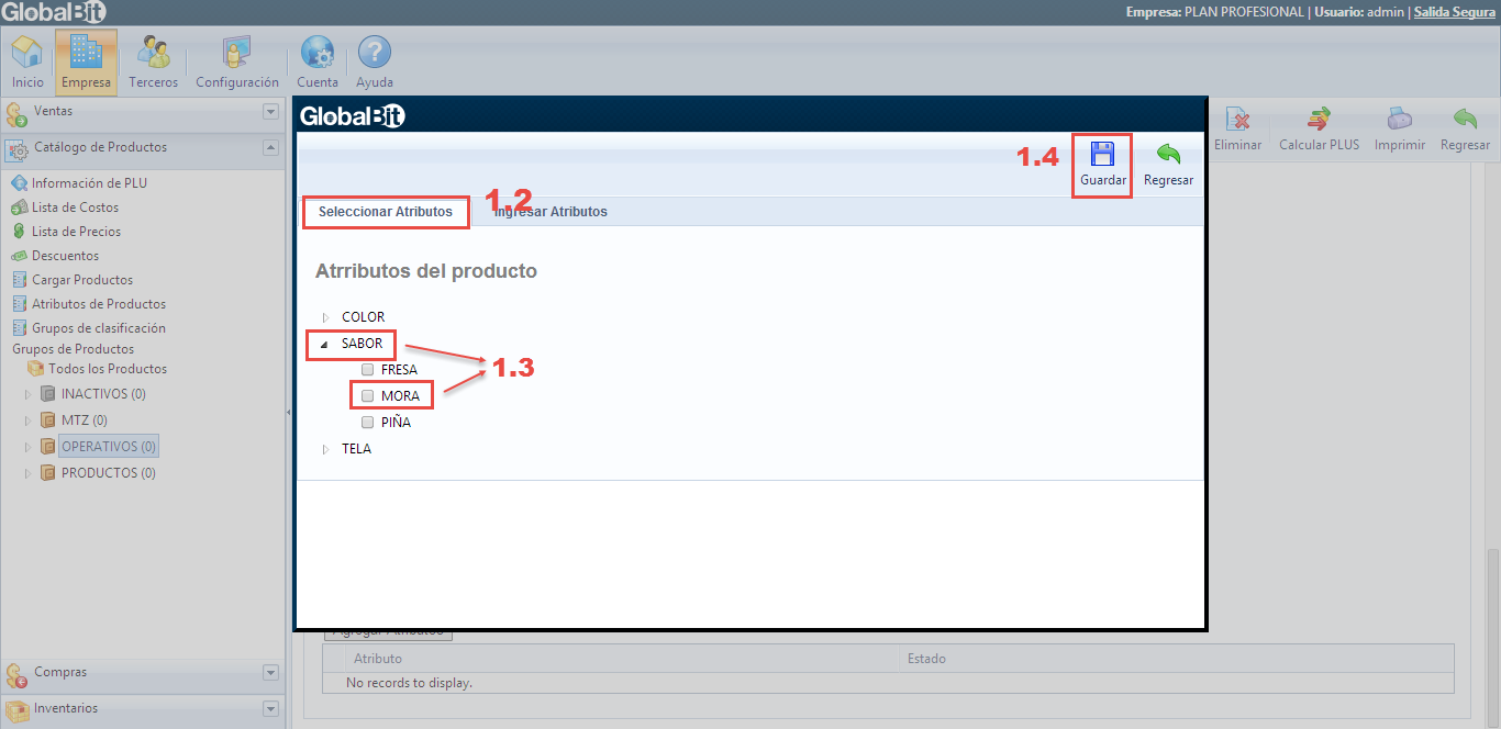 SELECCION DE TRIBUTOS