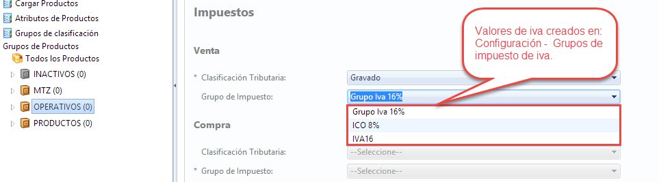 iva de creacion de prodctos