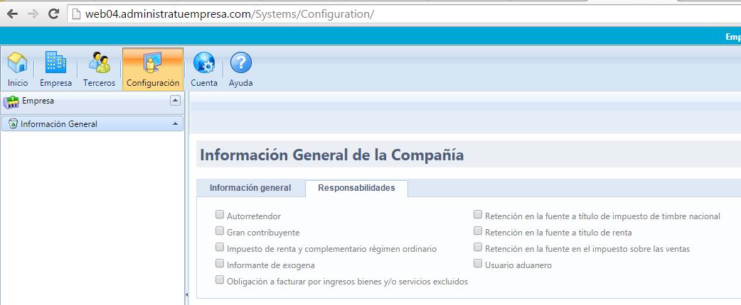 configuracion general